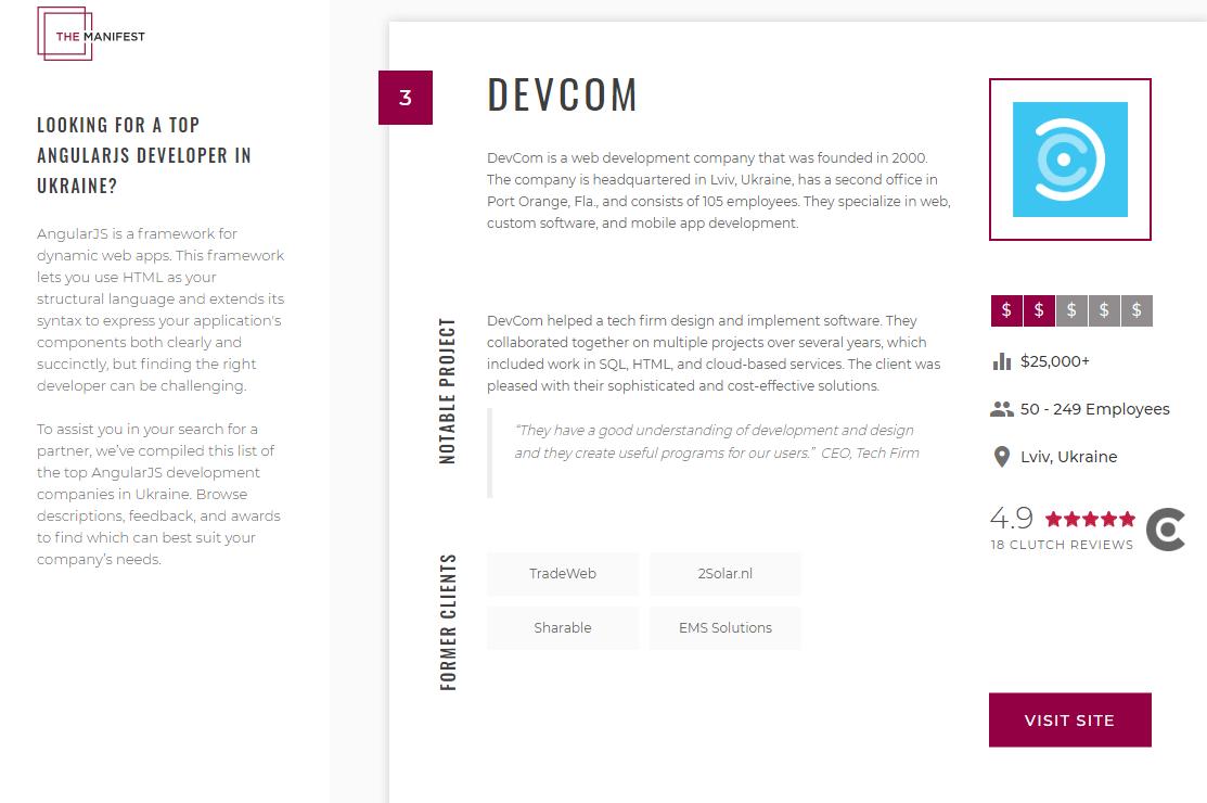 DevCom on The Manifest